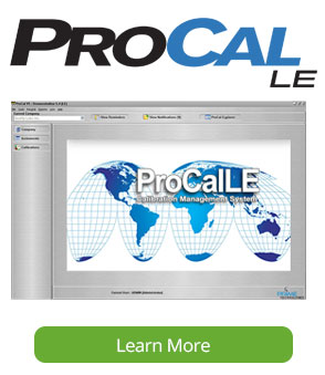 ProCalLE Calibration Software Screen