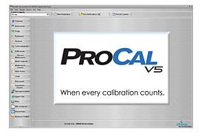 ProCalV5 Calibration Software Home Screen